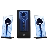Accessory Power GOGroove BassPULSE 2.1 Speakers w/ Pulsing Blue LED Lights