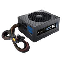Corsair HX Series HX750 Watt 80Plus Gold Certified Modular Power Supply Refurbished