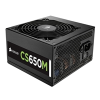 Corsair CS650M CS Series 650 Watt 80 Plus Gold Semi Modular ATX Power Supply Refurbished