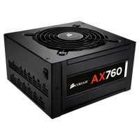 Corsair Professional Series AX760 760 Watt 80 Plus Platinum Modular ATX Power Supply