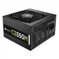 Corsair CS Series CS550M 550 Watt 80 Plus Gold Semi-Modular ATX Power Supply