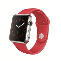 Apple 42mm Stainless Steel Case Apple Watch with (PRODUCT)RED Sport Band