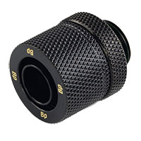 "Bitspower G 1/4"" Straight Compression Fitting - Black"