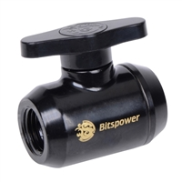 "Bitspower G 1/4"" Mini Valve - Matte Black"