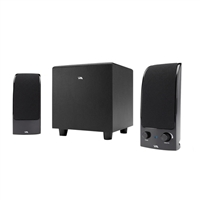 Cyber Acoustics CA-3072 2.1 Channel Satellite Speakers & Subwoofer System