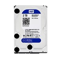 """WD Blue 2TB 5,400 RPM SATA III 6Gb/s 3.5"""" Hard Disk Drive OEM WD20EZRZ - Bare"""