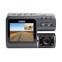Coby Electronics Front & Back 720p GPS Logger Car Dash Cam & DVR