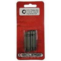 "Eclipse Tools Phillips 1-15/16"" Bit Set - 8 Pack"