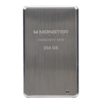 Monster Digital Overdrive 256GB SuperSpeed USB 3.0 250Mb/s Mini Solid State Drive SSDOM-0256-A - Brushed Stainless Steel