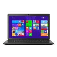 "Toshiba Satellite C75D-B7202 17.3"" Laptop Computer Refurbished - Textured Resin in Jet Black"