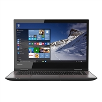"Toshiba Satellite Radius 14 14.0"" 2-in-1 Laptop Computer Refurbished - Textured Resin in Brushed Black"