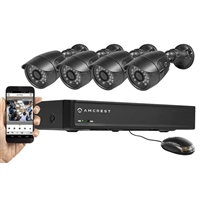 Amcrest AMDV6504-4B 4 Channel 650 TVL Video Security System