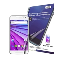 Green Onions Supply Crystal Oleophobic Screen Protector for Motorola Moto G 3rd Gen 2-pack