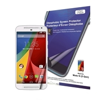 Green Onions Supply Crystal Oleophobic Screen Protector for Motorola Moto G 2-pack