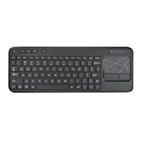 Logitech K410 Living Room Keyboard - Glossy Black