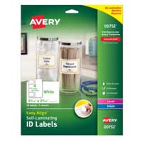Avery Easy Align Self-Laminating ID Labels 20 Pack