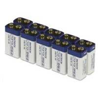 6LR61 9V Alkaline Batteries - 10 Pack