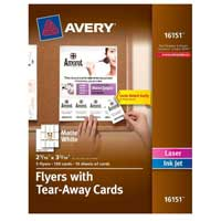 Avery 16151 Flyers with Tear-Away Cards 120 Pack