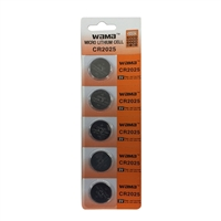 Dantona Industries CR2025 Lithium 3 Volt Batteries - 5 Pack