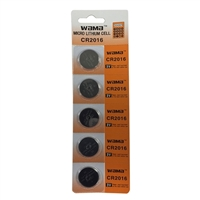 Dantona Industries CR2016 Lithium 3 Volt Batteries - 5 Pack