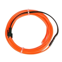 NTE Electronics 9.84 ft. Flexible Neon EL Wire (2.3mm Diameter) - Fluorescent Red