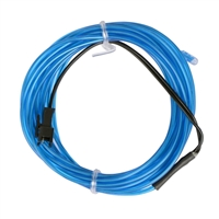 NTE Electronics 9.84 ft. Flexible Neon EL Wire (2.3mm Diameter) - Blue