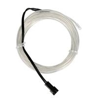 NTE Electronics 9.84 ft. Flexible Neon EL Wire (2.3mm Diameter) - Transparent Blue
