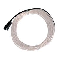 NTE Electronics 9.84 ft. Flexible Neon EL Wire (2.3mm Diameter) - Transparent White