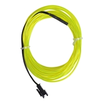 NTE Electronics 9.84 ft. Flexible Neon EL Wire (2.3mm Diameter) - Yellow