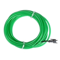 NTE Electronics 9.84 ft. EL Wire Pre-Wired Connector (3.2mm Diameter) - Green