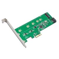 IOCrest M.2 NGFF SSD & SATA 6G Port HDD PCI-e x1 Card with RAID
