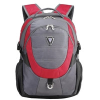 "Sumdex Full Speed Armor II Backpack Fits up to 15.6"" - Red/Gray"