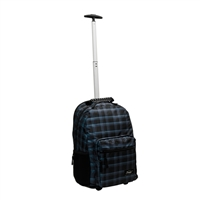 "Sumdex Newport Trolley Backpack with Wheels Fits up to 15.6"" - Blue Plaid"