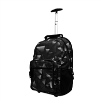 """Sumdex Newport Trolley Backpack with Wheels Fits up to 15.6"""" - Black Triangles"""