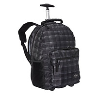 "Sumdex Newport Trolley Backpack with Wheels Fits up to 15.6"" - Gray Plaid"