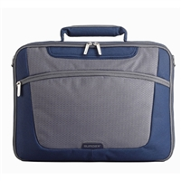 "Sumdex Passage Single Compartment Brief Case Fits up to 15.6"" -Blue/Gray"