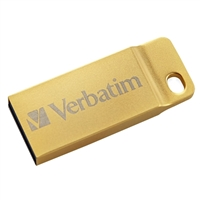 Verbatim 64GB Metal Executive USB 3.0 Flash Drive Gold