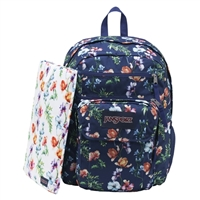 "Jansport Digital Student Backpack Fits up to 15"" - Multi Navy/Mountain Meadow"