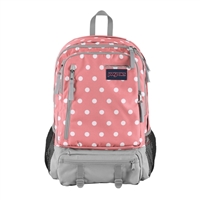 "Jansport Envoy Backpack Fits up to 15"" - Coral Sparkle/White Dots"