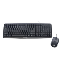 Verbatim Slimline Corded USB Keyboard & Mouse - Black