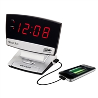 Westclox Digital LED Alarm Clock with USB Charging Port, 0.9""