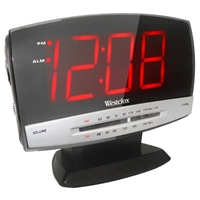 "Westclox AM/FM Alarm Clock Radio, 1.8"" Large"