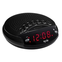 "SXE 0.6"" LED Bluetooth Speaker Alarm Clock Radio, Red SXE86000"