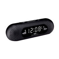 SXE Dual Alarm Bluetooth Speaker Clock Radio with White LED Display