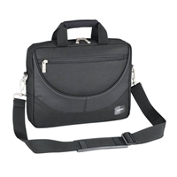 "Sumdex Passage Compact Laptop Briefcase Fits up to 13.3"" - Black"