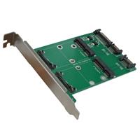 Vantec Dual mSATA to Dual SATA III Port Converter Kit