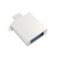 Satechi USB 3.1 (Type-C) Male to USB 3.1 (Type-A) Female Adapter - Silver