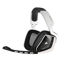 Corsair VOID Wireless 7.1 Dolby Surround Sound PC Gaming Headset - White/RGB Illuminated