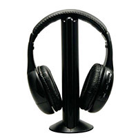 Sentry HW701 Wireless Headphones & Transmitter - Black