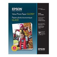 "Epson 8.5""x11"" Value Glossy Photo Paper 50-Sheets"